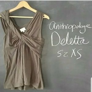 Anthropologie Deletta Twisted Tank Top XS